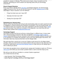 Letter from the CTO to students about technical support for remote learning